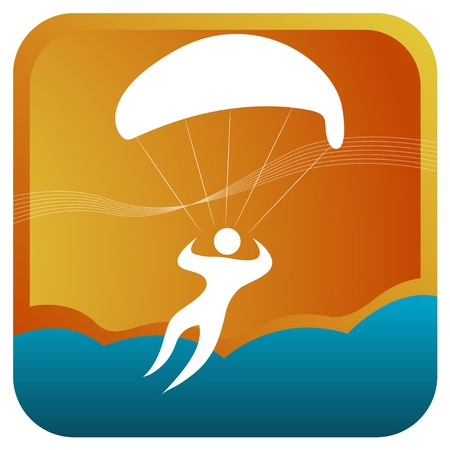 sky diving: human sailing in air using parachute