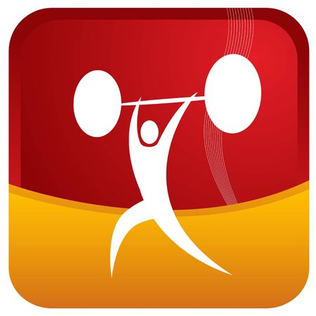 human lifting weights Stock Vector - 7596883