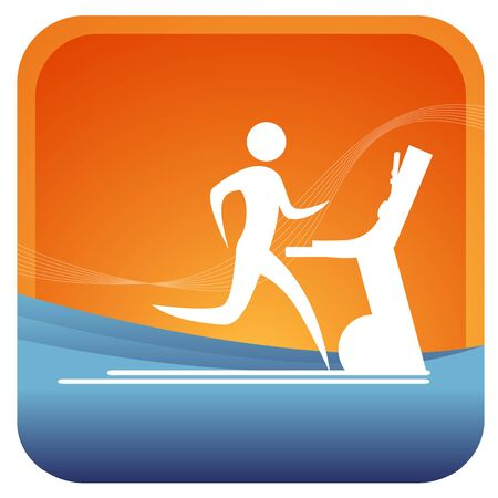 gymnasium: human running on a tread mill