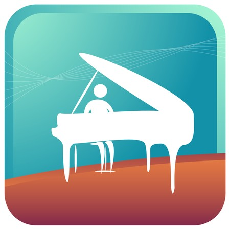 stickman: human playing a piano