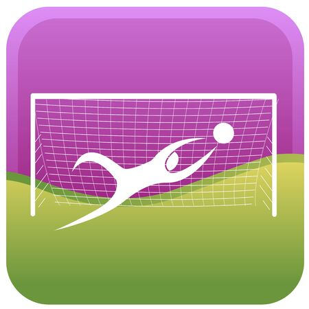 goal keeper diving to block the ball Vector
