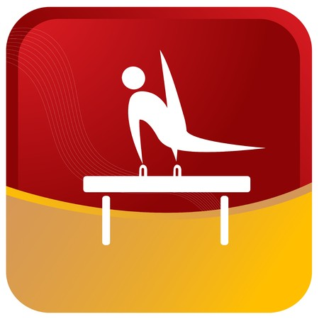 gymnastics sports: human showing postures of gymnastics