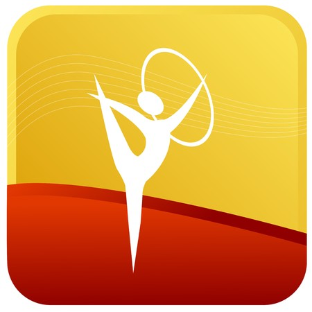 stickman: human doing gymnastics with ring