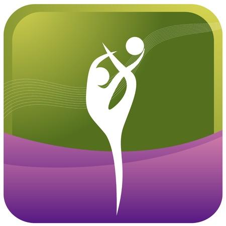 indoor sport: human doing acrobatic postures