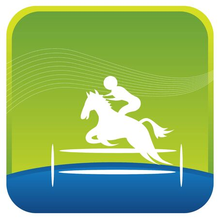 human showing stunts on horse riding Vector