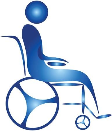 wheel chair: human on a wheel chair