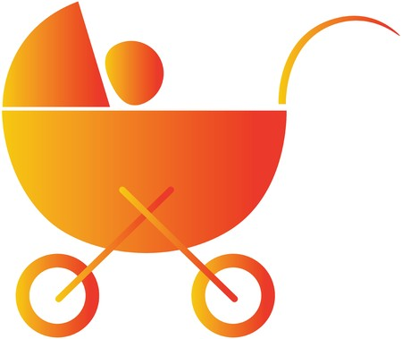 babycare: baby in a cradle