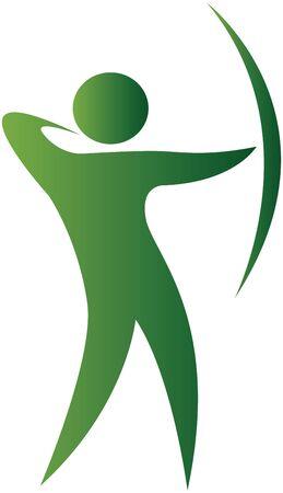 arco y flecha: con el objetivo humano con arco y flecha
