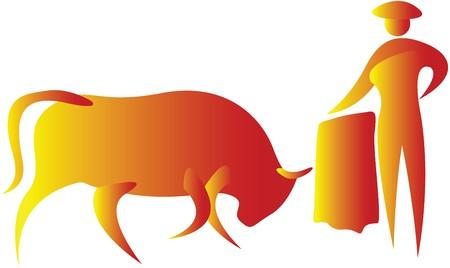 invitando: caza de Toro, invitando a un toro para atacar
