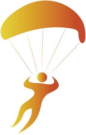 sky dive: human sailing in air using parachute