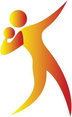 human aiming while throwing shotput Stock Photo - 7597026