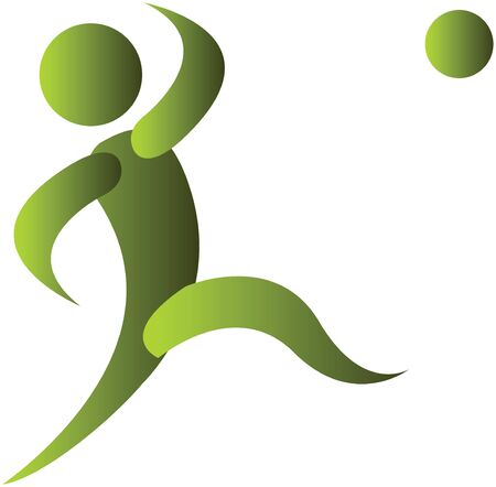 human kicking the football