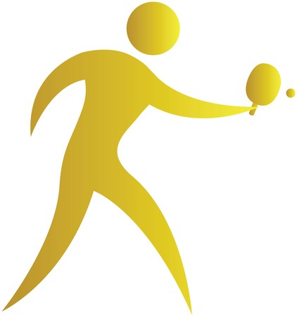 human striking the ball in table tennis game
