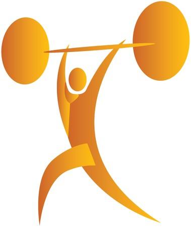 human lifting weights photo