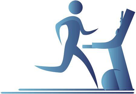human running on a tread mill Stock Photo - 7597039