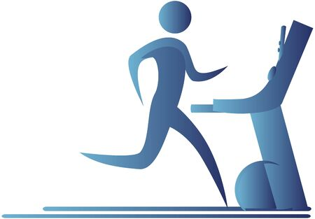 signboard form: human running on a tread mill