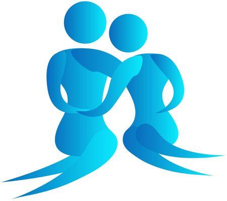youngs: human couple romancing Stock Photo