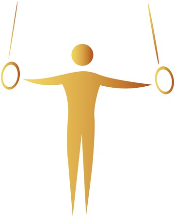 human showing postures of gymnastics photo