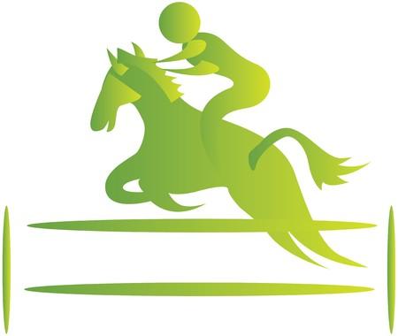 human showing stunts on horse riding photo