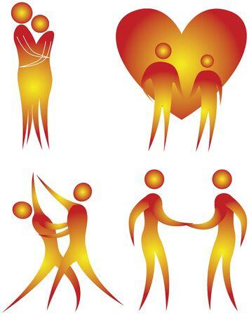 bonhomme allumette: collection de motifs humaines en action