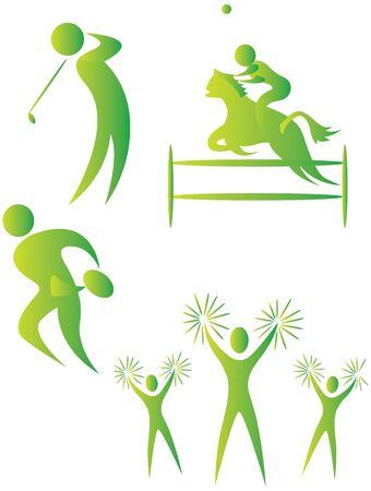 bonhomme allumette: collection de motifs humaines fait diff�rents sports