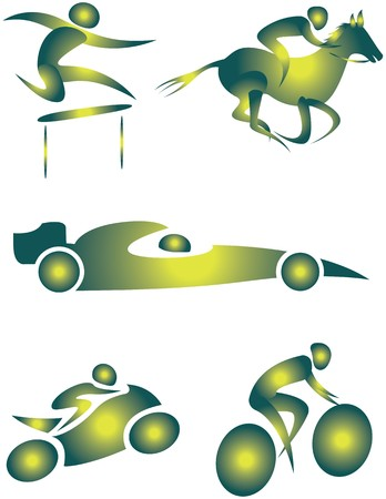 gp: collection of human motifs doing different sports