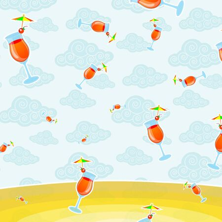 pattern background of cocktail photo