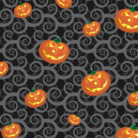christian halloween: pattern background of halloween pumpkins