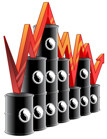 fluctuation: Illustration representing fluctuation in oil prices