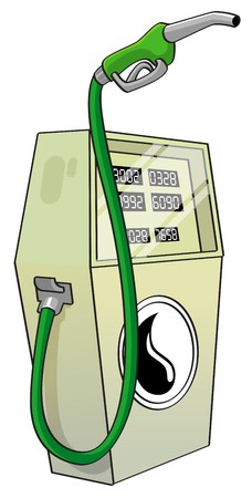 Illustration representing fuel pump - bio fuel  illustration