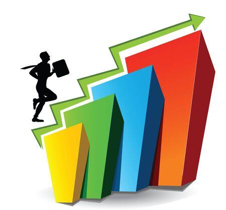 Illustrative representation showing rise in stock market Stock Photo - 7861124
