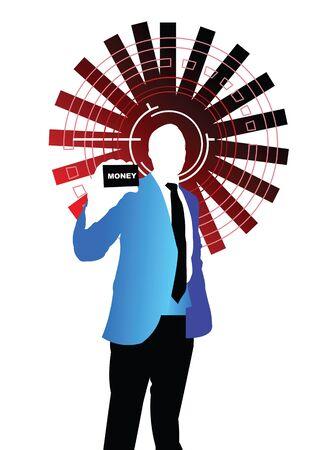 Illustrative representation of a businessman Stock Photo - 7861270