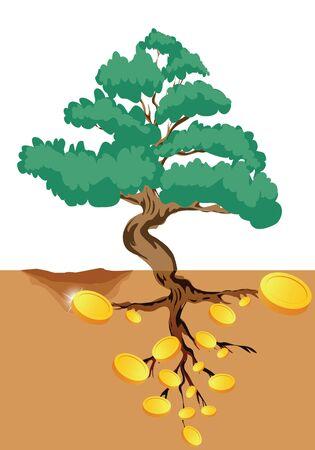 making hole: money tree