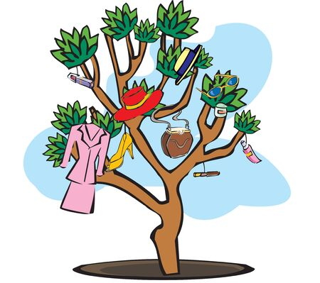 weekend activities: shopping tree