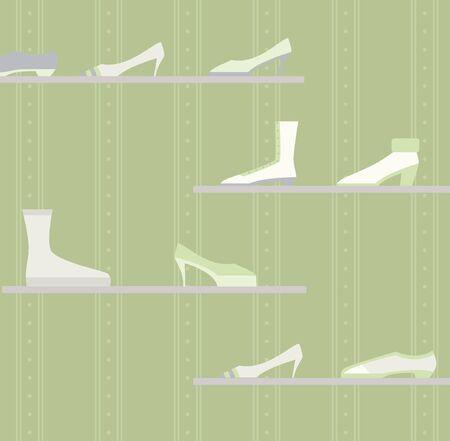 shoe store: a shoe store