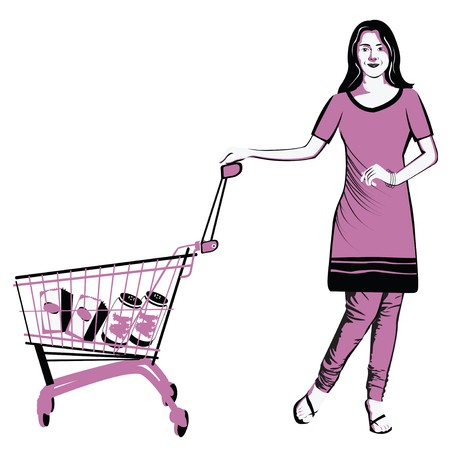 retail therapy: Woman shopping