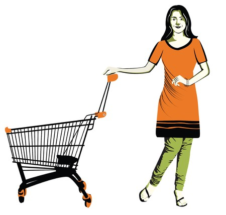 salwar: Woman shopping