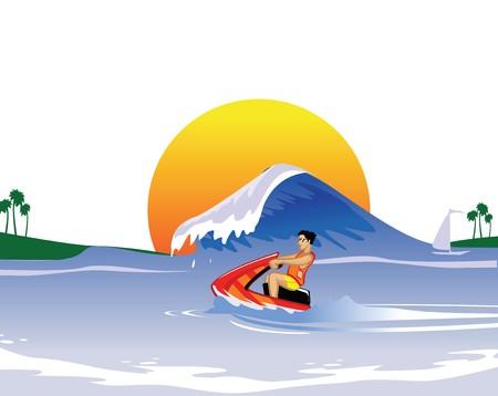 weekend activities: water sports  Stock Photo