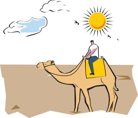 weekend activities: Tourist riding on a camel