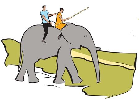 weekend activities: Tourist riding an elephant