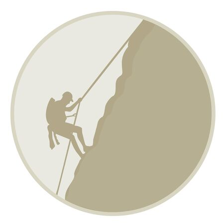 rappelling: Mountaineering
