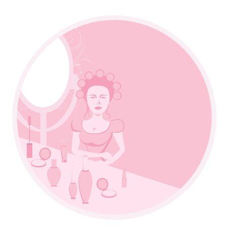 salon beaut�:  Salon de beaut�  Banque d'images