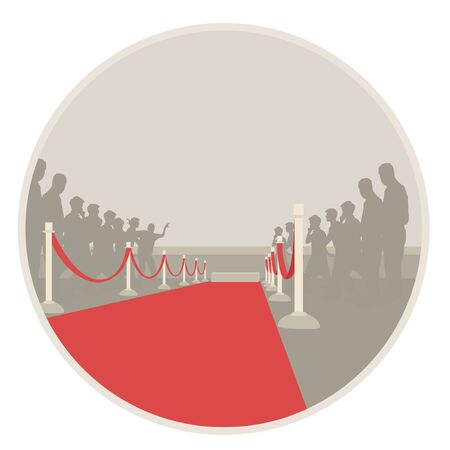 roped off: red carpet
