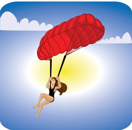 kite surfing: para gliding  Stock Photo