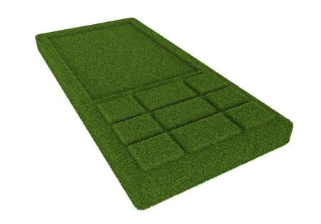technlogy: 3d illustration of green mobile technlogy Stock Photo
