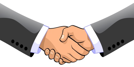 company merger: Two businessmen shaking hands  Stock Photo