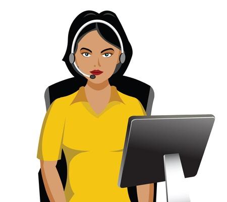 Female customer service representative   photo