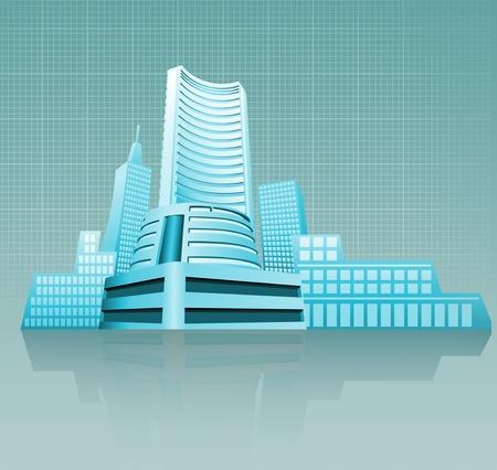fluctuation: stock exchange building