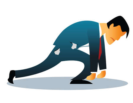 overburden: Illustration representing man stressed out