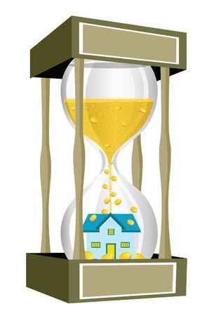 house inside a giant hourglass Stock Photo - 9688369